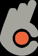 Logo entourage fond transparent